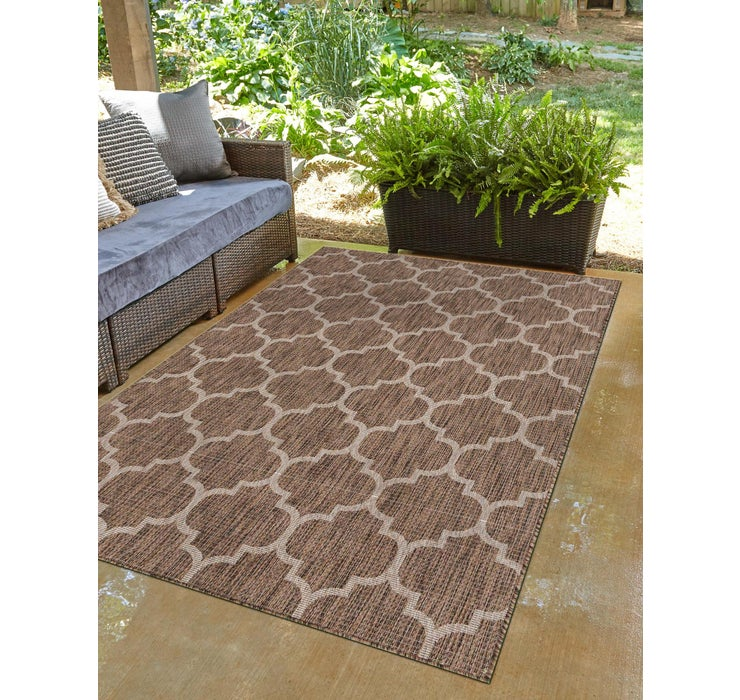 Brown Outdoor Lattice Rug