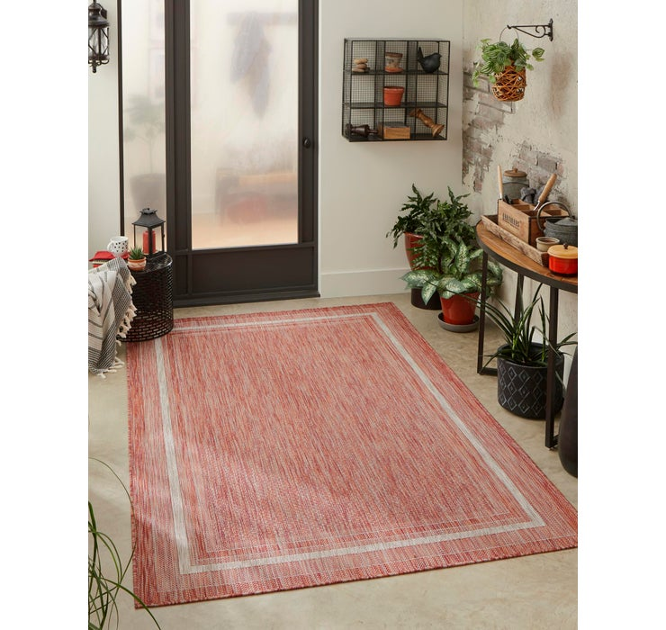 Image of 5' x 8' Outdoor Border Rug