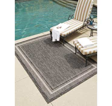 Image of  8' x 11' 4 Outdoor Border Rug