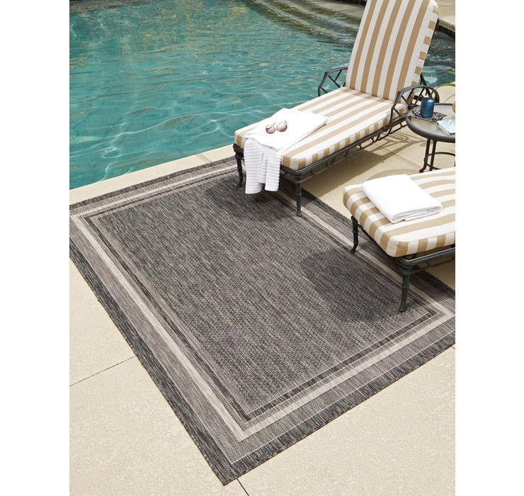 Image of  Black Outdoor Border Rug