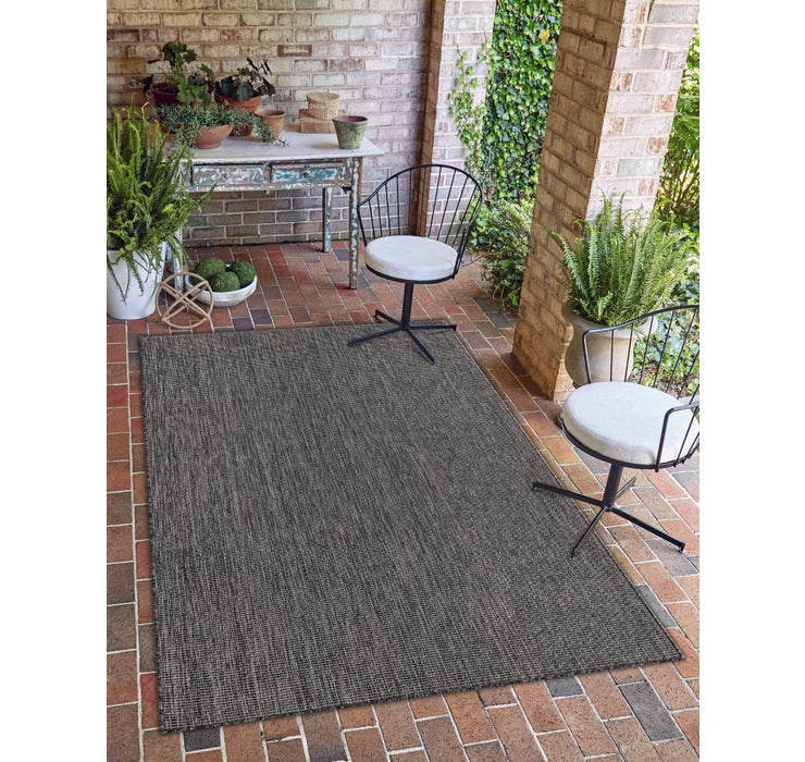 6' x 9' Outdoor Solid Rug