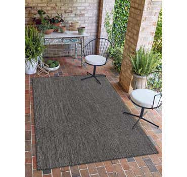 Image of 6' x 9' Outdoor Solid Rug