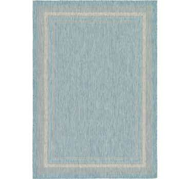 Image of  Aquamarine Outdoor Border Rug