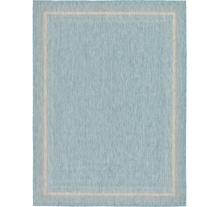 Aquamarine Outdoor Border Rug