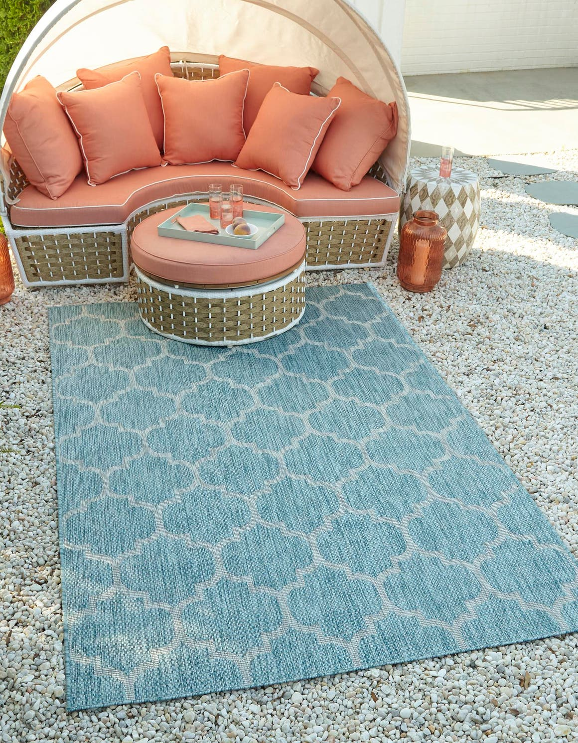 8' x 11' 4 Outdoor Trellis Rug main image