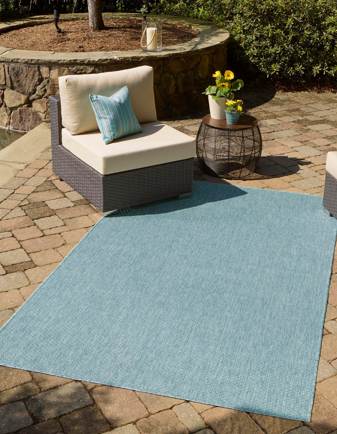 Aquamarine  4' x 6' Outdoor Solid