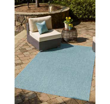 Image of 5' x 8' Outdoor Solid Rug