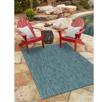 Image of 122cm x 183cm Outdoor Solid Rug