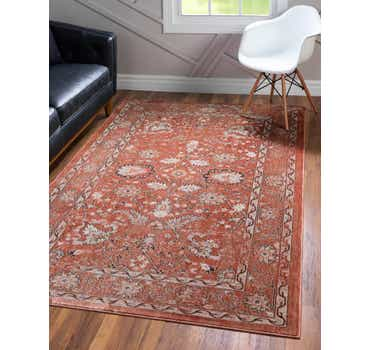 Image of  Brick Red Dahlia Rug