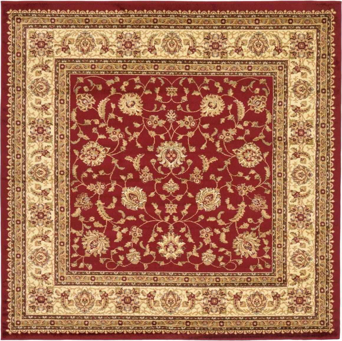 8' x 8' Classic Agra Square Rug main image