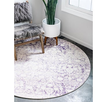 8' x 8' New Vintage Round Rug main image