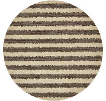 Image of  Brown Magnitude Round Rug