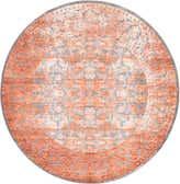 8' x 8' Modern Classical Round Rug thumbnail
