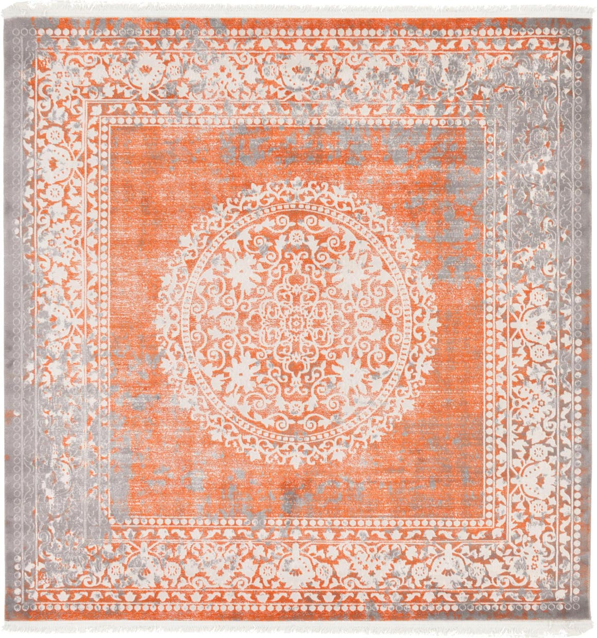 8' x 8' New Vintage Square Rug main image