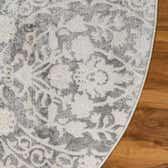 6' x 6' New Vintage Round Rug thumbnail