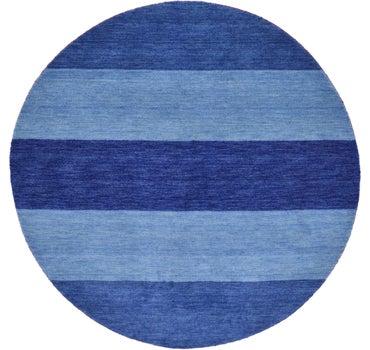 Image of 6' 6 x 6' 6 Indo Gabbeh Round Rug