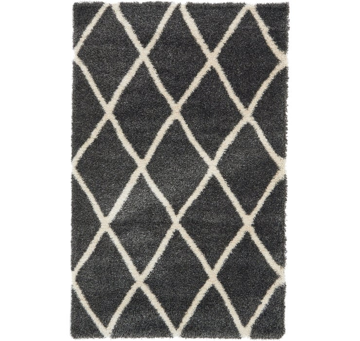 5' x 8' Luxe Trellis Shag Rug