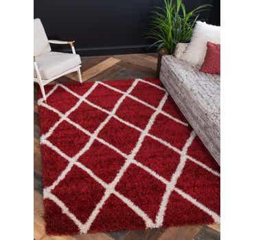 Image of 10' x 13' Luxe Trellis Shag Rug