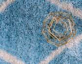 4' x 6' Luxe Trellis Shag Rug thumbnail