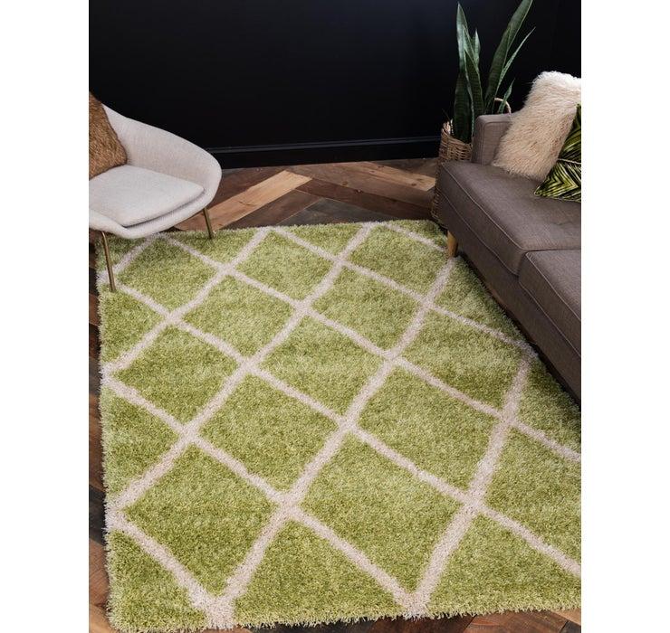 Image of 8' x 11' 2 Luxe Trellis Shag Rug