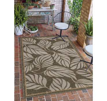 Image of 5' x 8' Outdoor Botanical Rug