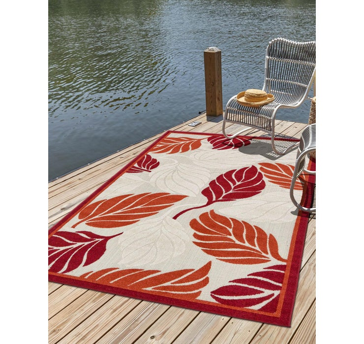 Image of 8' x 10' Outdoor Botanical Rug