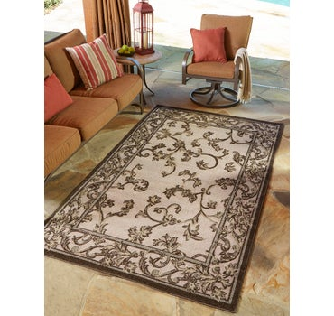 5' x 8' Outdoor Botanical Rug main image