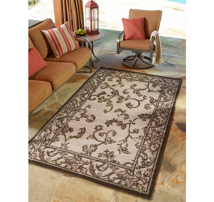Image of 152cm x 245cm Outdoor Botanical Rug