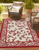 5' x 8' Outdoor Botanical Rug thumbnail