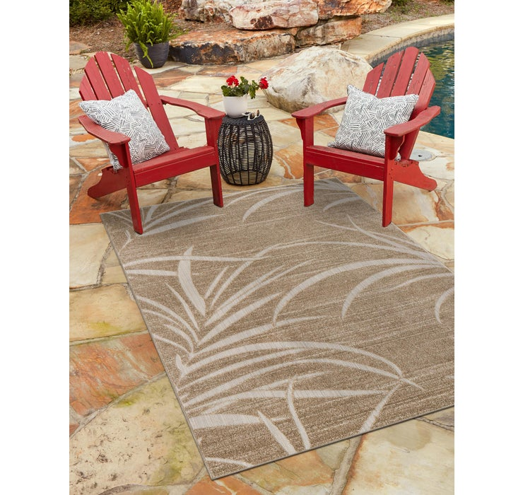 Image of 122cm x 183cm Outdoor Botanical Rug