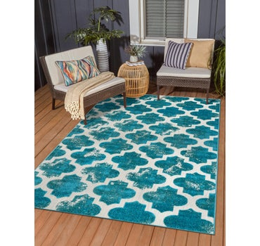 8' x 10' Outdoor Trellis Rug main image