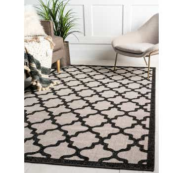 Black Outdoor Lattice Rug