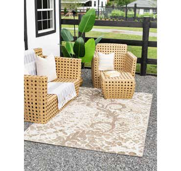 Image of  Cream Outdoor Modern Rug