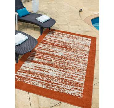 Image of  Terracotta Outdoor Border Rug