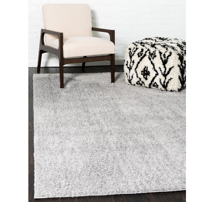 Light Gray Solid Shag Rug