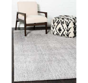 Image of  Light Gray Solid Shag Rug