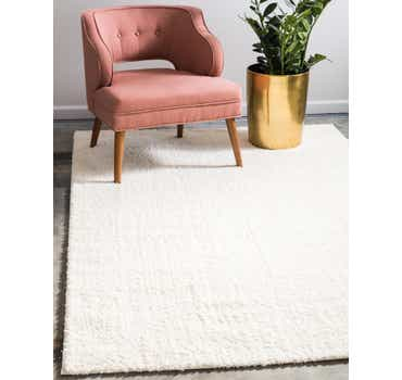 Image of  White Solid Shag Rug