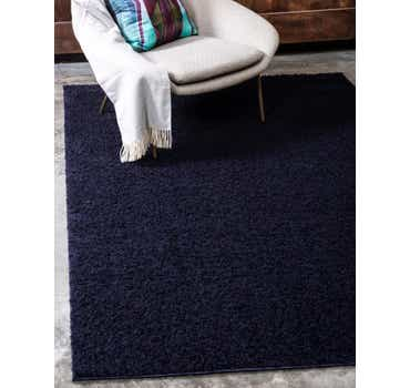 Image of  Midnight Blue Solid Shag Rug