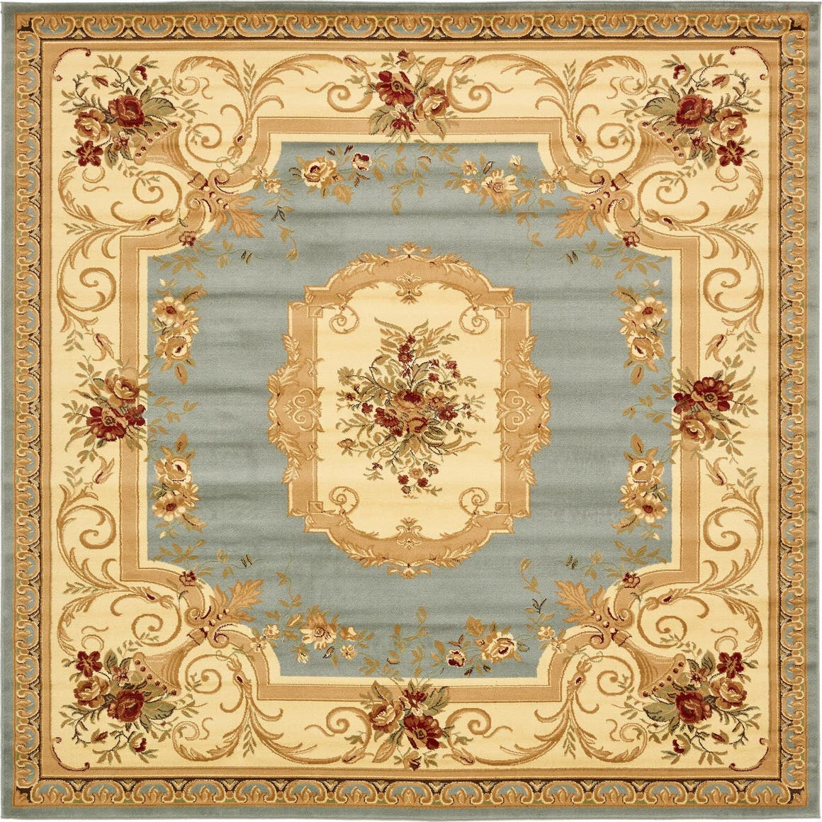 10' x 10' Classic Aubusson Square Rug main image