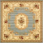 10' x 10' Classic Aubusson Square Rug thumbnail