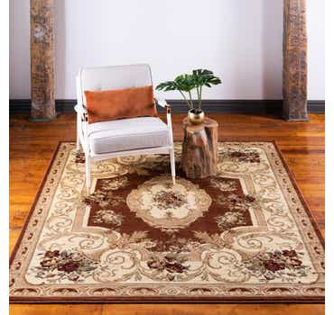 Image of  Brick Red Chateau Square Rug