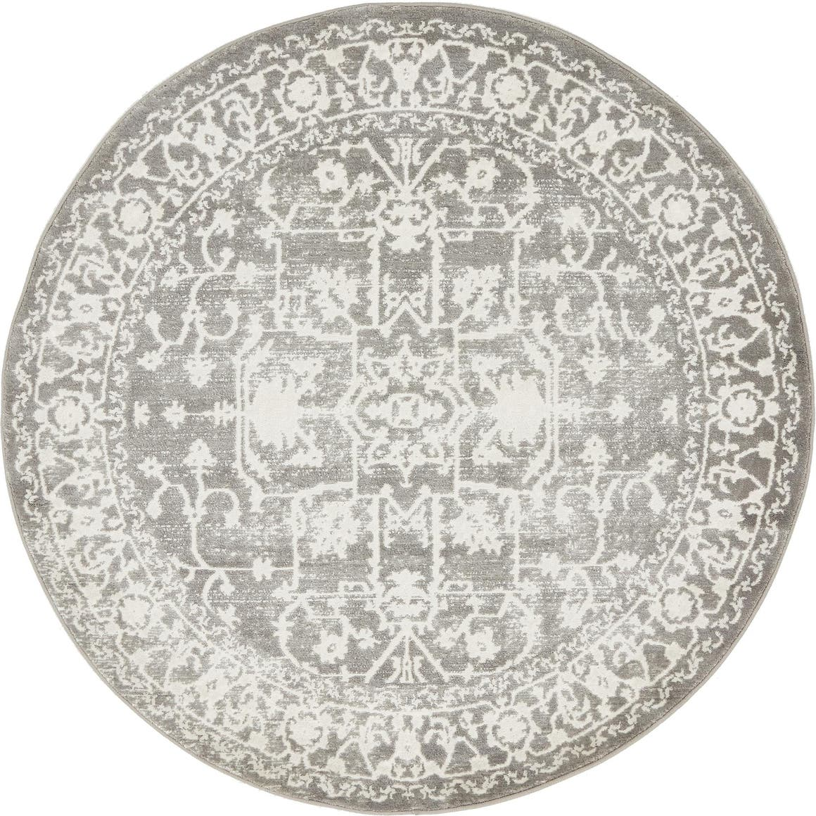 4' x 4' New Vintage Round Rug main image