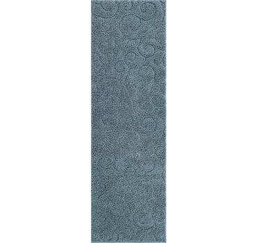 2' x 6' 7 Floral Shag Runner Rug main image