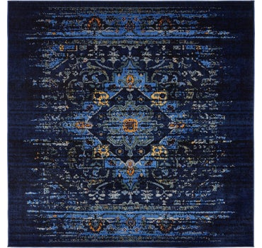Image of  Navy Blue Francesca Square Rug