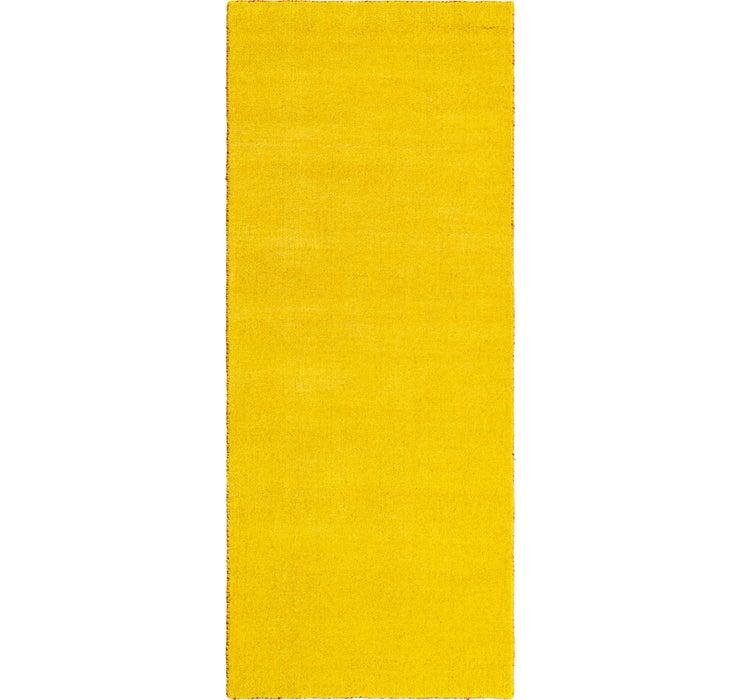 2' 7 x 6' 7 Solid Gabbeh Runner Rug