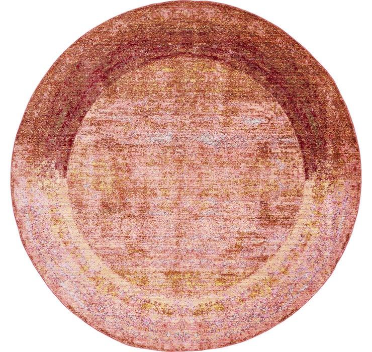 6' x 6' Aqua Round Rug