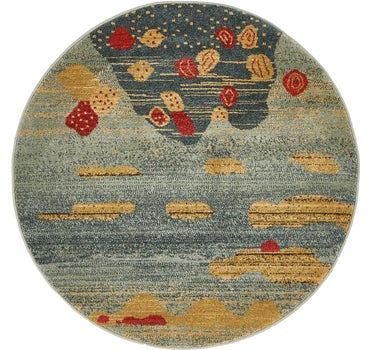 3' 3 x 3' 3 Kashkuli Gabbeh Round Rug main image