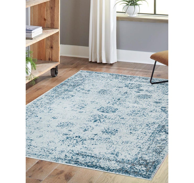 Light Blue Monte Carlo Rug