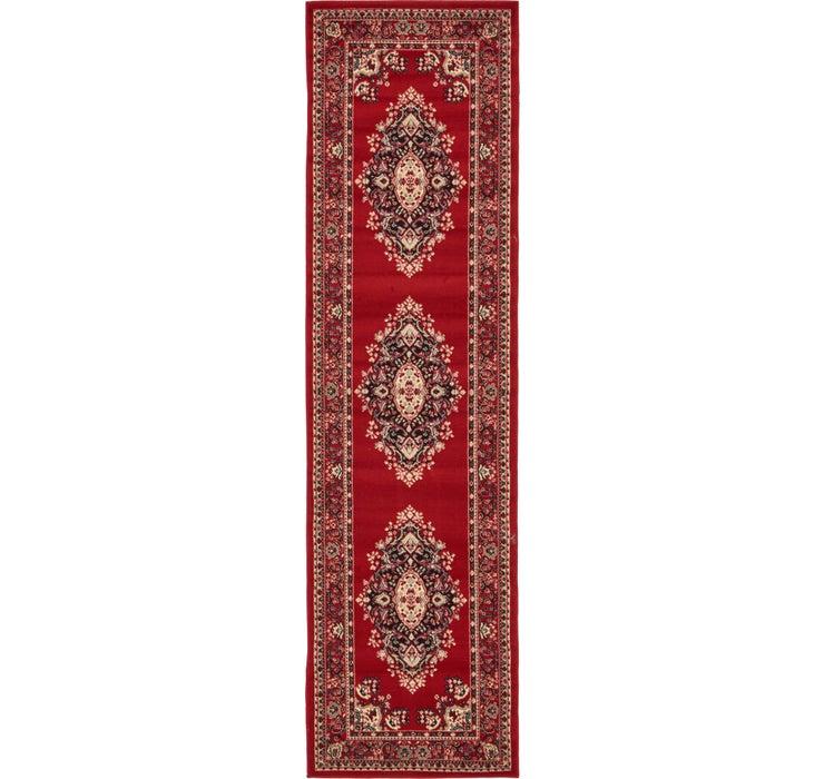 2' 7 x 10' Mashad Design Runner Rug