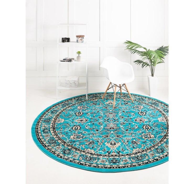 8' x 8' Kashan Design Round Rug
